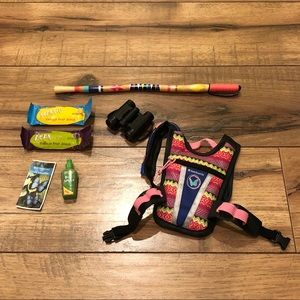 American Girl Lea's rainforest hike accessories